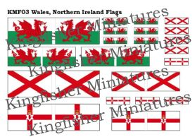 Wales & Northern Ireland Flags